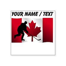 Custom Hockey Canadian Flag Sticker