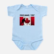Custom Hockey Canadian Flag Body Suit