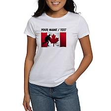 Custom Hockey Canadian Flag T-Shirt