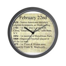 February 22nd Wall Clock