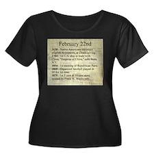 February 22nd Plus Size T-Shirt