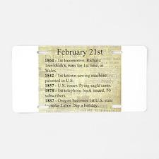February 21st Aluminum License Plate
