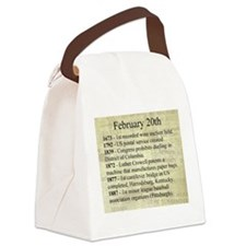 February 20th Canvas Lunch Bag