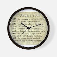 February 20th Wall Clock