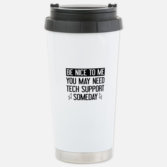 Be Nice To Me Stainless Steel Travel Mug