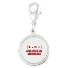 Operators Are Standing By Silver Round Charm