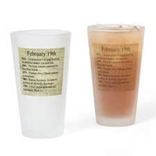 February 19th Drinking Glass