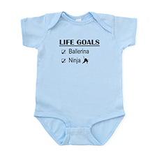 Ballerina Ninja Life Goals Infant Bodysuit