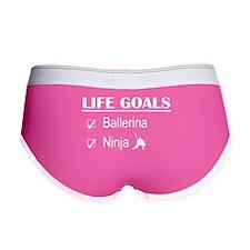 Ballerina Ninja Life Goals Women's Boy Brief