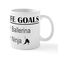Ballerina Ninja Life Goals Mug