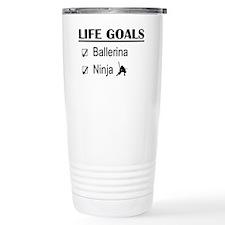 Ballerina Ninja Life Go Travel Coffee Mug