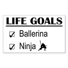 Ballerina Ninja Life Goals Decal