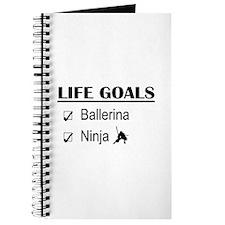 Ballerina Ninja Life Goals Journal