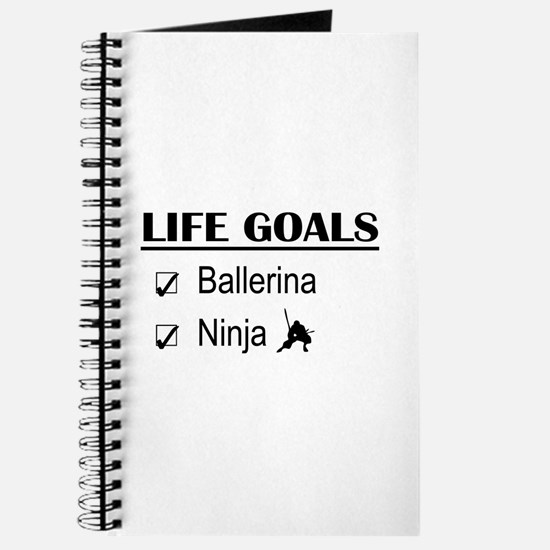 Ballerina Ninja Life Goals Journal