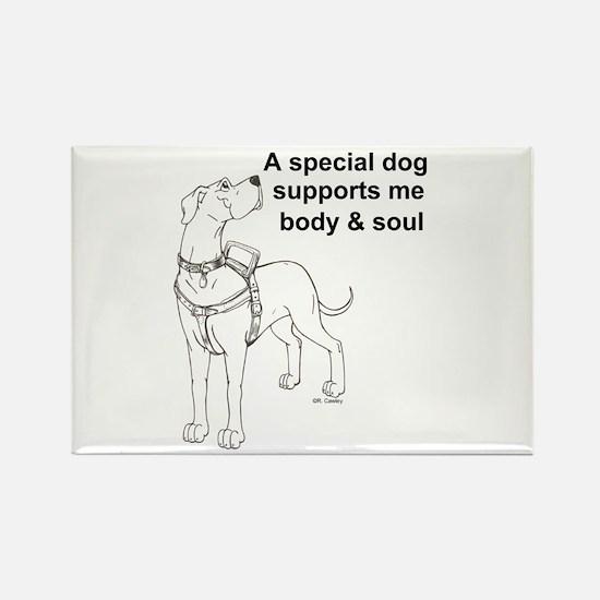 N Support Dog Rectangle Magnet