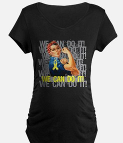 Endometriosis Rosie WE CAN DO IT Maternity T-Shirt