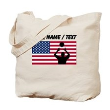 Custom Volleyball Set American Flag Tote Bag