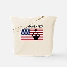 Custom Volleyball Set American Flag Tote Bag