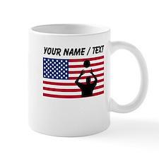 Custom Volleyball Set American Flag Mugs