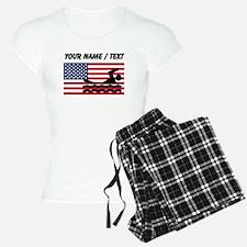 Custom Swimming American Flag pajamas