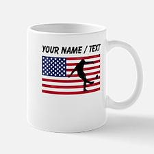 Custom Rugby Kick American Flag Mugs