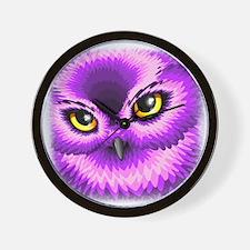 Pink Owl Eyes Wall Clock