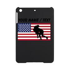 Custom Rugby Tackle American Flag iPad Mini Case