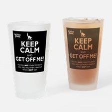 Keep Calm - in black Drinking Glass