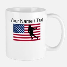 Custom Lacrosse American Flag Mugs