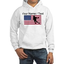 Custom Lacrosse American Flag Jumper Hoody
