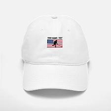 Custom Hockey American Flag Baseball Baseball Cap