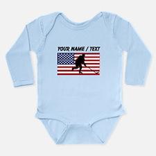 Custom Hockey American Flag Body Suit