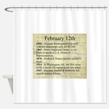February 12th Shower Curtain
