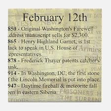 February 12th Tile Coaster