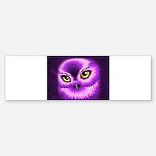 Pink Owl Eyes Bumper Bumper Bumper Sticker
