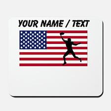 Custom Football Wide Receiver American Flag Mousep