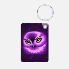 Pink Owl Eyes Keychains