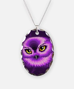 Pink Owl Eyes Necklace