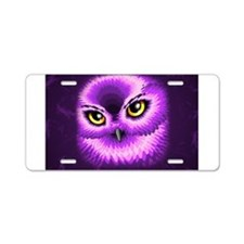 Pink Owl Eyes Aluminum License Plate