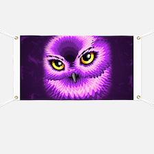 Pink Owl Eyes Banner