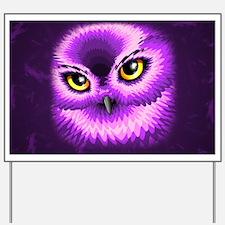 Pink Owl Eyes Yard Sign