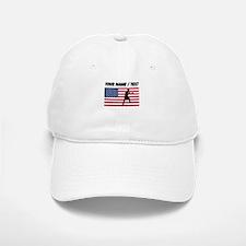 Custom Boxing American Flag Baseball Baseball Cap