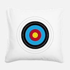 Archery Target Square Canvas Pillow