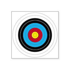 "Archery Target Square Sticker 3"" X 3"""
