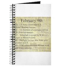 February 9th Journal
