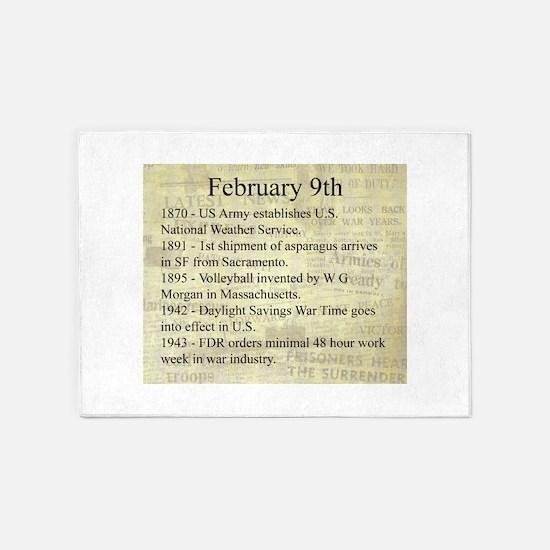 February 9th 5'x7'Area Rug