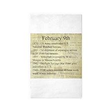 February 9th 3'x5' Area Rug