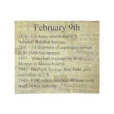 February 9th Throw Blanket