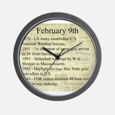 February 9th Wall Clock