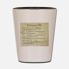 February 9th Shot Glass